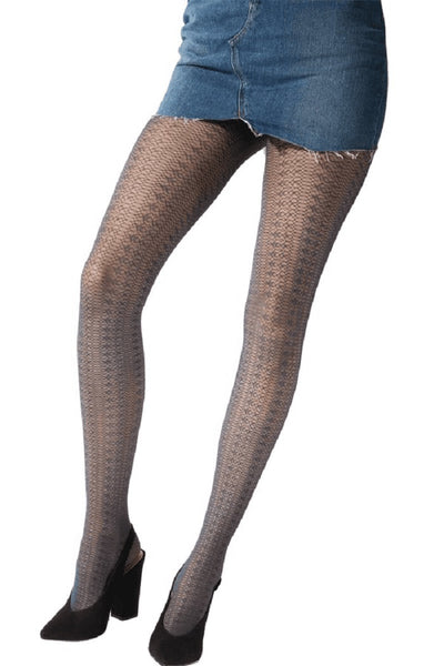 Pretty Polly Fashion Delicate Lace Pattern Tight Black - PNAWB6