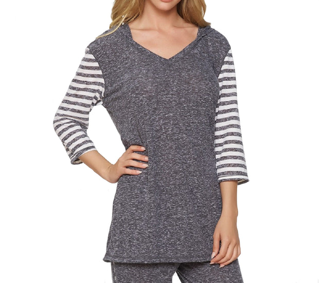 Felina Summer Vacation Tunic with Hoodie & Open Back - 970089