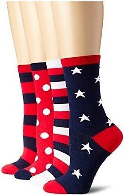 K. Bell Socks Women's Mix-It-Up Americana Crew - KBWF14H077-02
