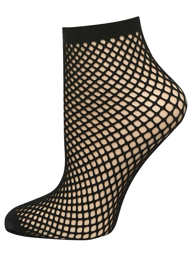 Pretty Polly Womens Ropenet Ankle High One Size Black - PNAUV1
