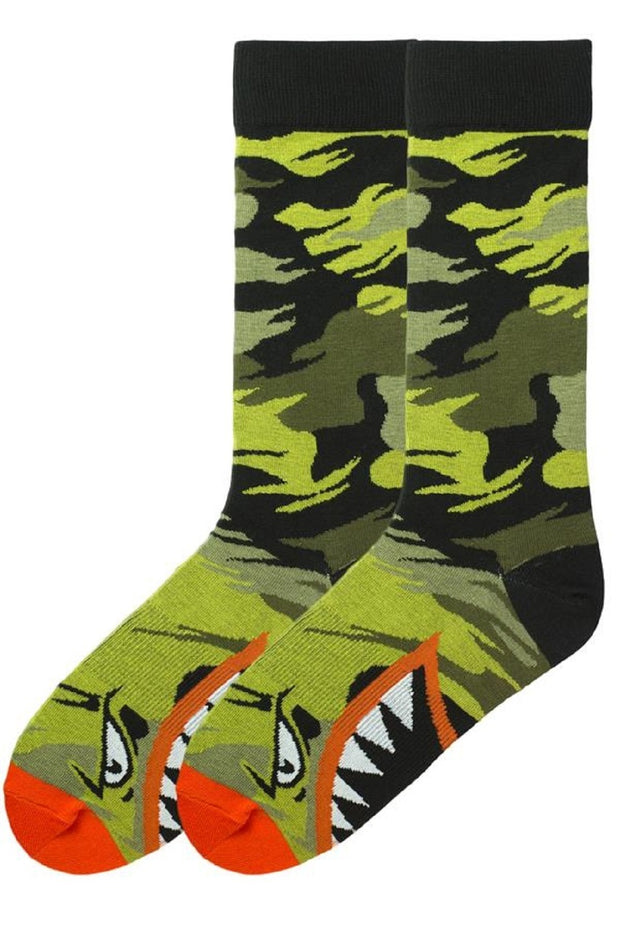 K. Bell Men's Bird O' War Crew Socks One Size Driedherb - KBMS15H108-01