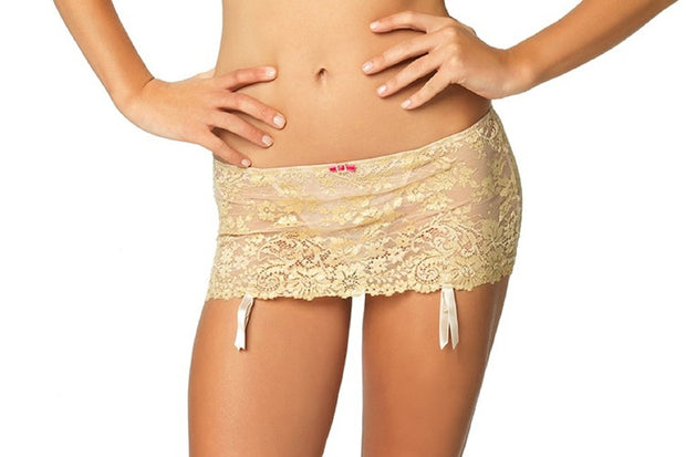 Felina Women's La dame Garter Skirt with Attached G-String - 499986