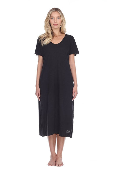 PJ Harlow Cotton Short Sleeve Long Dress w- Poetic Quotes and Sayings - Chelsea