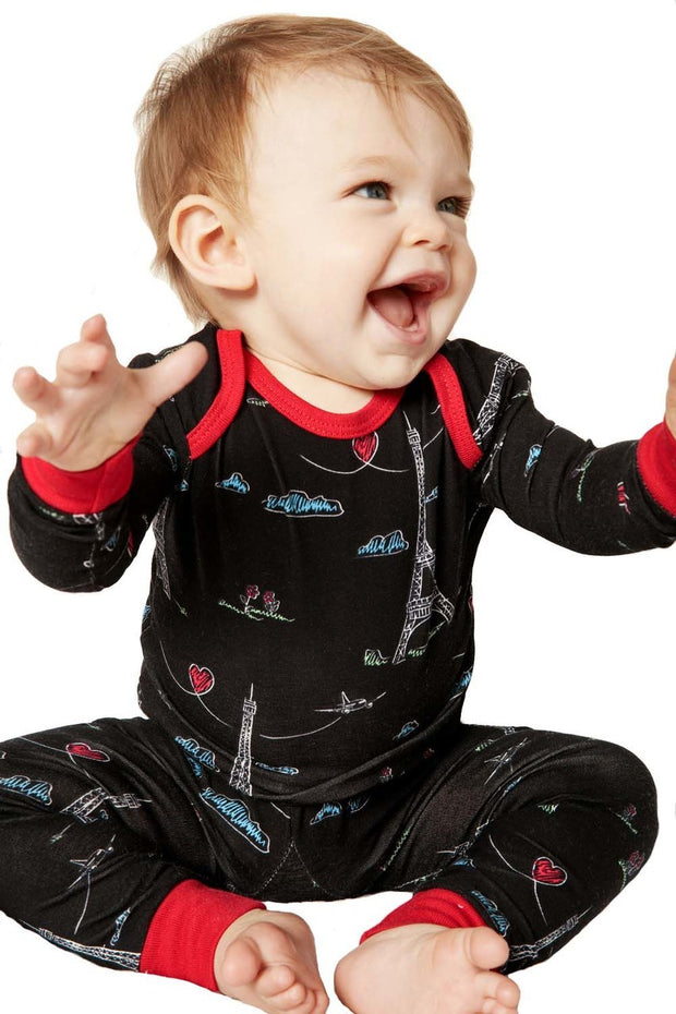 "BedHead Pajamas Sketched Eiffel Stretch L-S 2pc ""Boo Boo"" 2050-KL7-7034"