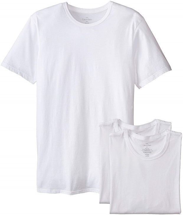 Calvin Klein Undershirts Cotton Classics 3 PK Slim Fit Crew Neck T-Shirts - NB1176