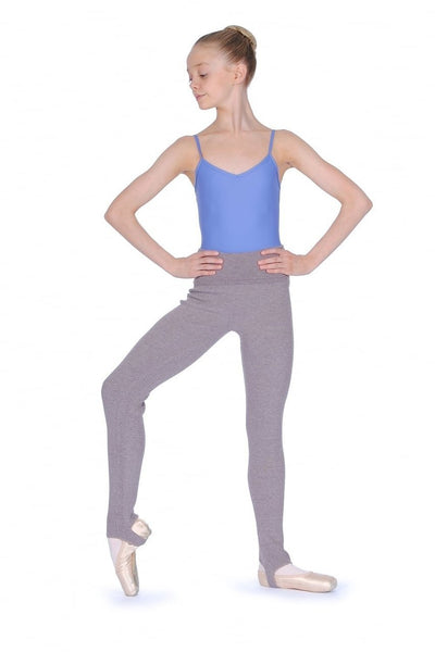 Capezio Girls Foldover Waistband Stirrup Pants - CK1036C