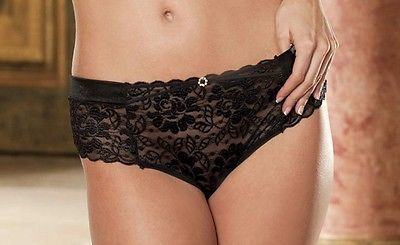 Shirley of Hollywood Stretch Lace Hipster Thong - 35
