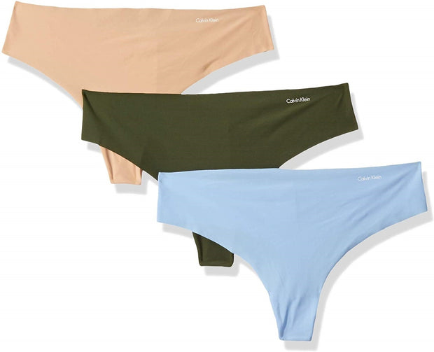 Calvin Klein 3 Pack Invisibles Thong Panty - QD3558