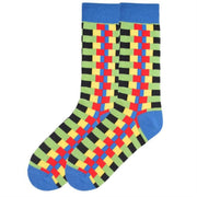 K. Bell Socks Men's Zipper Stripes Crew Sock One Size - KBMS15H016-01