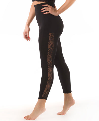 Rhonda Shear Ahh Ohh La La Seamless High Waist Shaping Legging with Lace - R1392