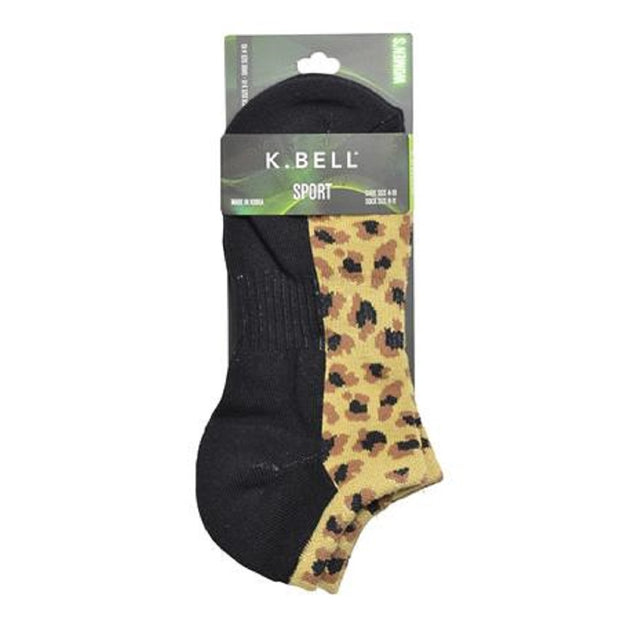 K. Bell Women's Leopard Sport Socks One Size - 16851