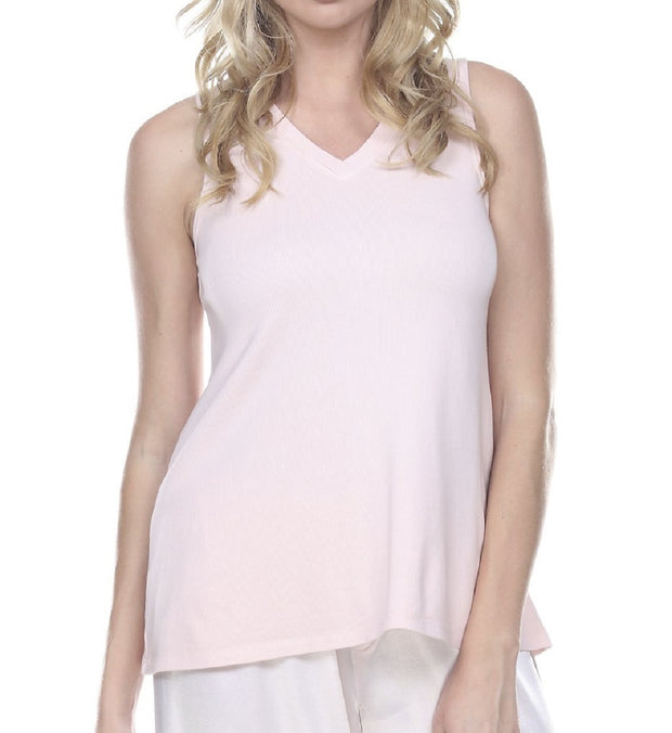 PJ Harlow Cindy Rib V-Neck Swing Tank - Cindy
