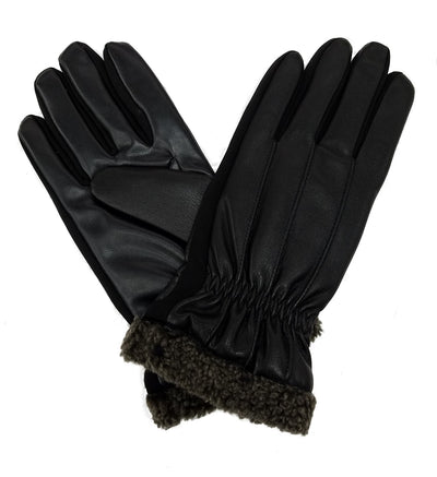 Isotoner Men's Signature SmartTouch Dress Faux Fur Cuff Gloves - A75601