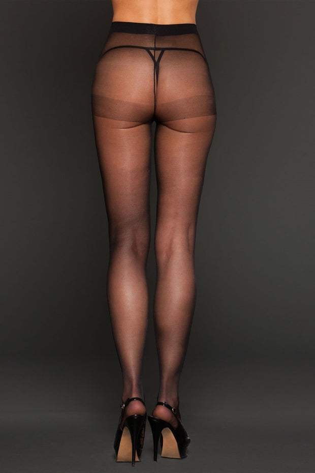 iCollection Lingerie Sheer Spandex Pantyhose One Size - 8615