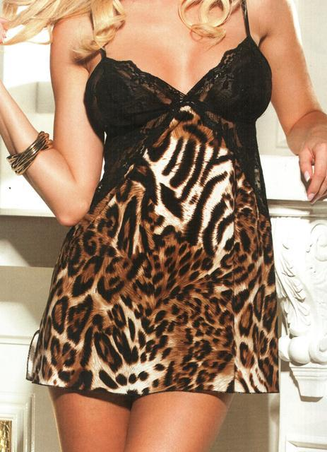 Shirley of Hollywood Animal Knit Chemise - 3243