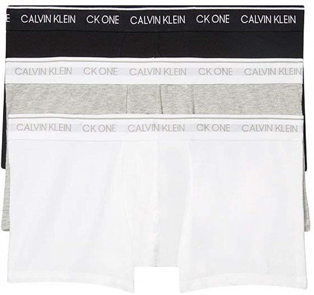 Calvin Klein Underwear Men's CK One Cotton 3 Pack Low Rise Trunks - NB2406