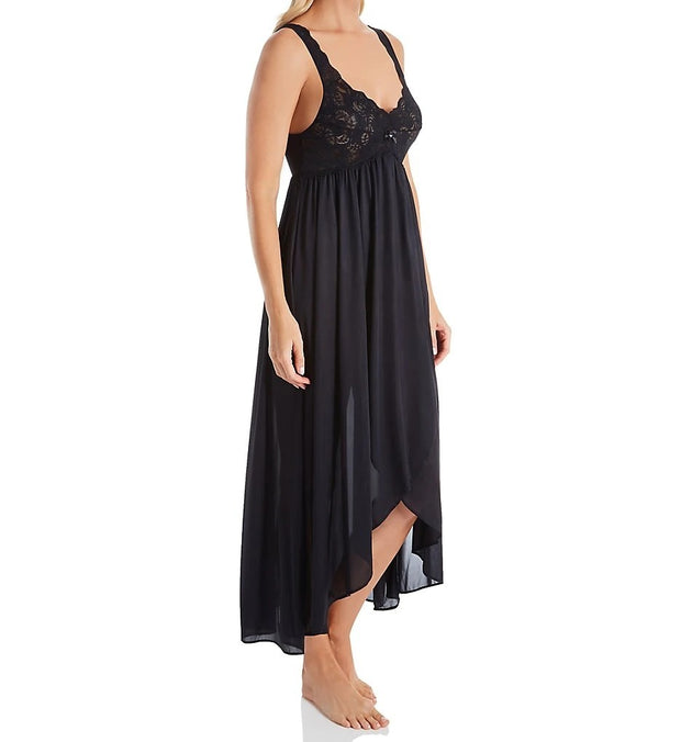 Shadowline Silhouette Nylon Tricot Hi-Low Gown - 35737