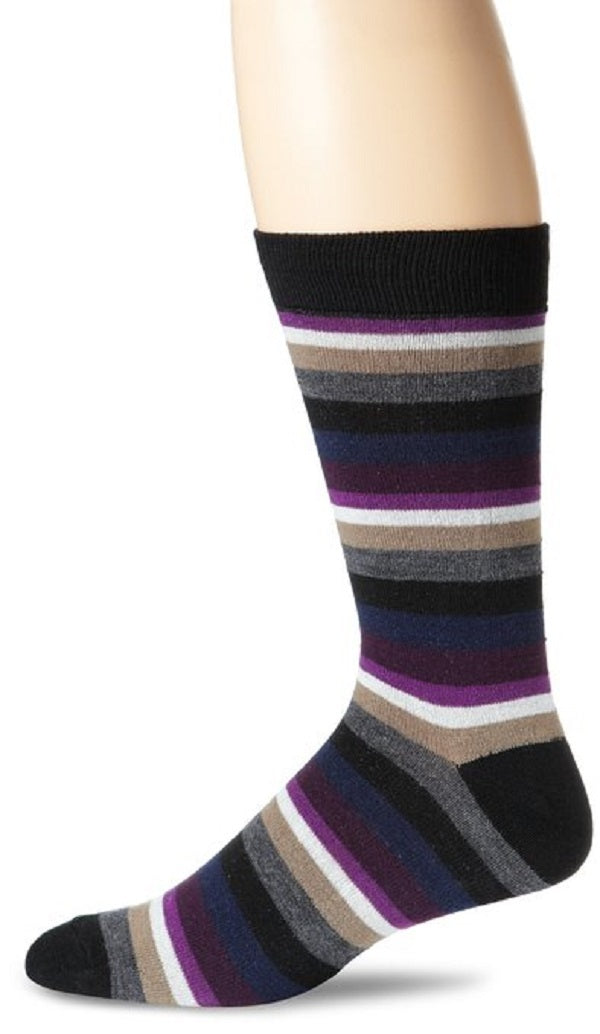 K. Bell Socks Men's Arrow Stripe Wool Crew Sock One Size - 66999M