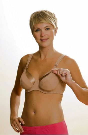 La Leche League Heidi Satin Neckline Underwire Nursing Bra - 4111