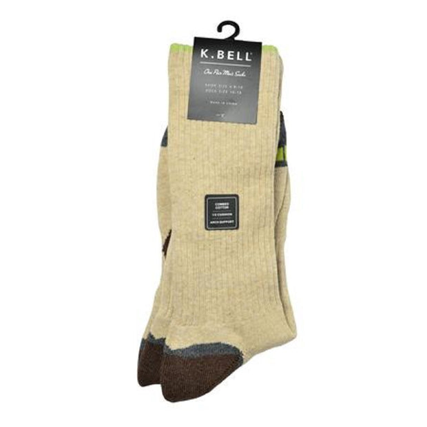 K. Bell Men's Heather Tech Crew Socks One Size - 66917M