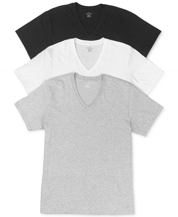 Calvin Klein Men's Cotton Classics Short Sleeve V-Neck T-Shirt - M4065