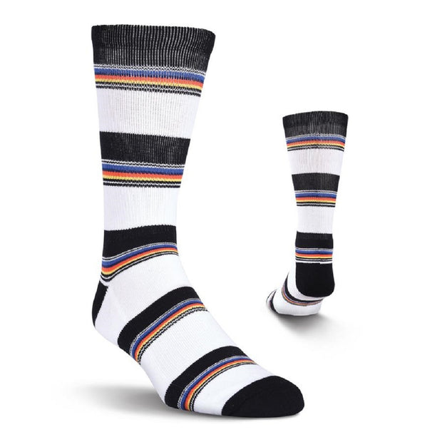 K. Bell KurB Men's Variegated Stripe Crew Socks One Size - KRM16H057-01