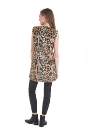 Love Token Ariah Animal Print Faux Vest - LT86-06