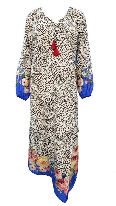 Johnny Was Okasana Animal and Floral Printed Long Maxi Cover up - CSW8120-F