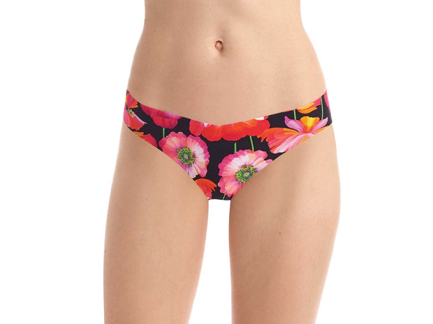 Commando Printed Low Rise Tagless Thong - CT02