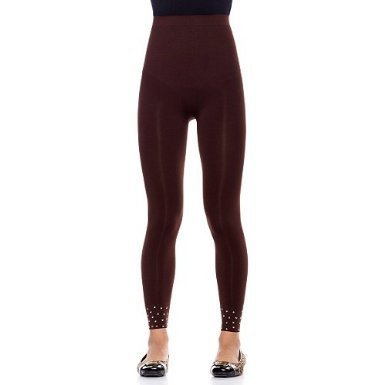 "Rhonda Shear ""Rocker"" High Waist Studded Leggings - R1390"