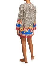 Johnny Was Oksana Animal Cover up with Floral Printed Trim - CSW9020-F