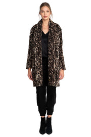 Johnny Was Leopard Faux Fur Coat - J41420-8