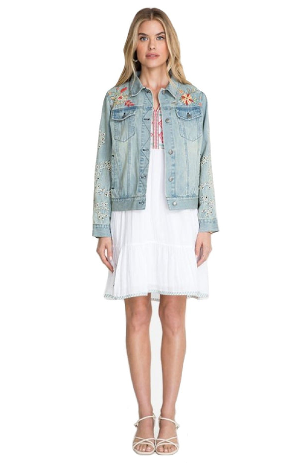 Johnny Was Lidia Denim Jacket - W48520-4