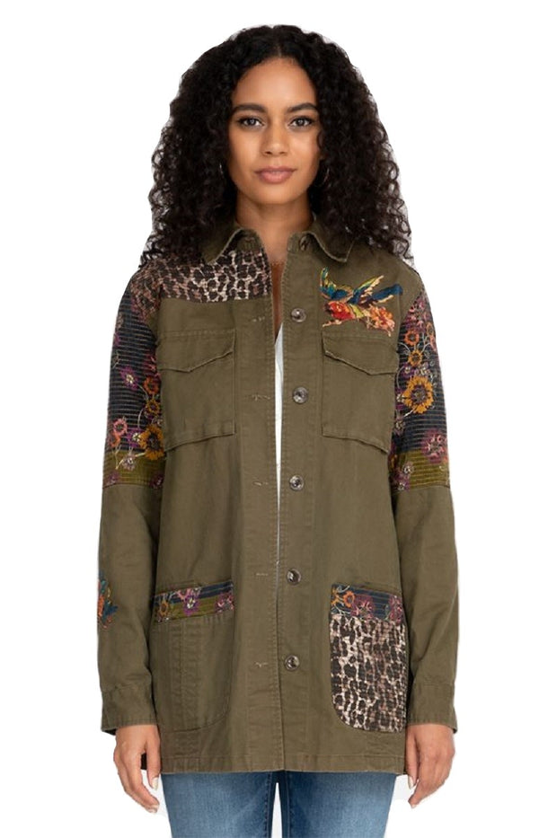 Johnny Was Patch Work Military Jacket - W49620-6