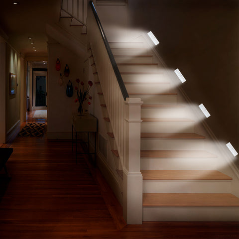 image of stairs lit by LED lights