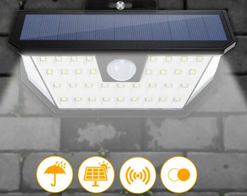 SolarStar Solar Powered 48 LED Outdoor Security Light With PIR Motion Sensor