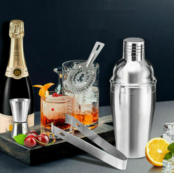 Cocktail Shaker & Bar Tool Set - 5 Piece Bartender Kit - Everything You Need To Entertain At Home