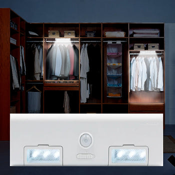 image of Battery powered LED light in closet and product image