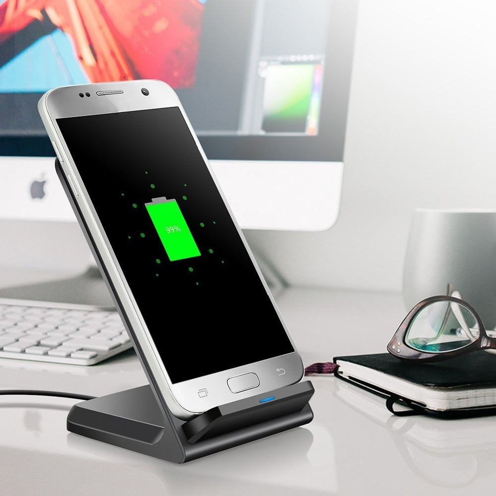 ChargeFast™ Wireless Charger - Charging Pad For Qi Wireless Devices Including iPhone, Samsung & Other Android Devices