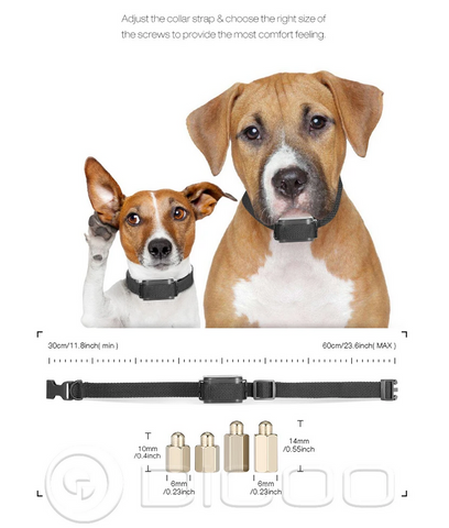 image of Digoo Dog Training Collar size adjustment proceedures