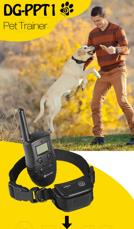 Dog Training Collars - A Dog Shock Collar, Virbration Collar & Sound Collar - 3 Modes, Recharchable & Long Range Plus Water-Resistant