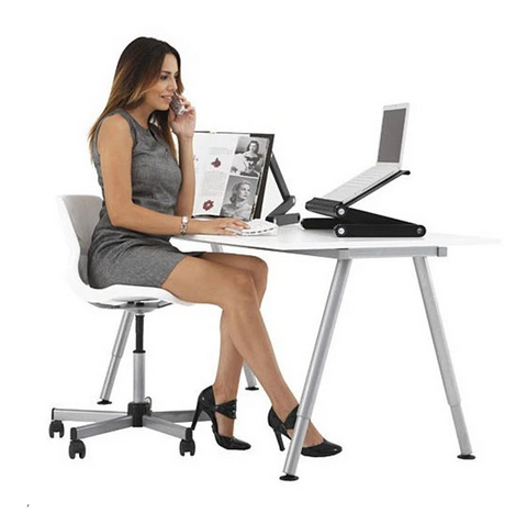 image of Solid Weld™ Laptop Desk in use
