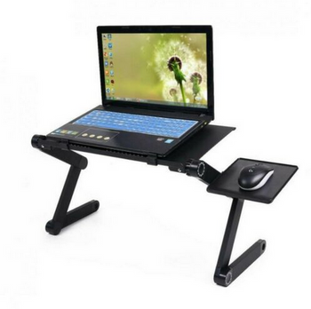 SolidWeld Laptop Desk - Table For Laptop - Laptop Table For Bed, Portable Laptop Desk - Fully Adjustable 360 Degrees Plus Mouse Pad Extension