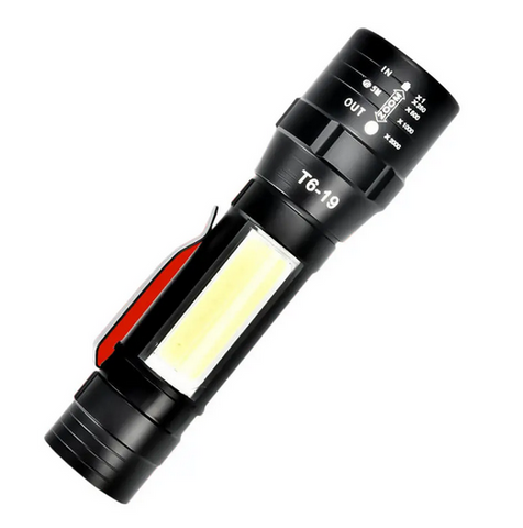 image of LedBright Flashlight view with COB side light in use