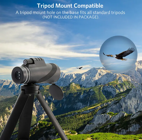 image of LockWatch™ Monocular mounted on a tripod