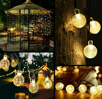 SolarStar LED String Lights - Outdoor String Lights, Solar String Lights - 29.5 Feet Long 50 LEDs Total