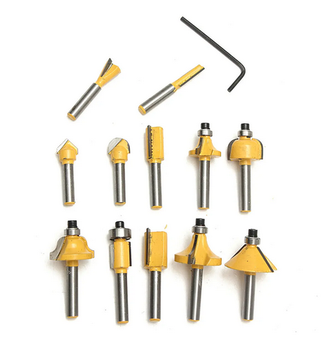 SolidWeld Woodworking Tools - Router Bit - Set of 12 Router Bits