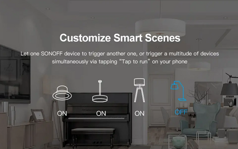 image of Sonoff Mini Smart Switch uses in the home