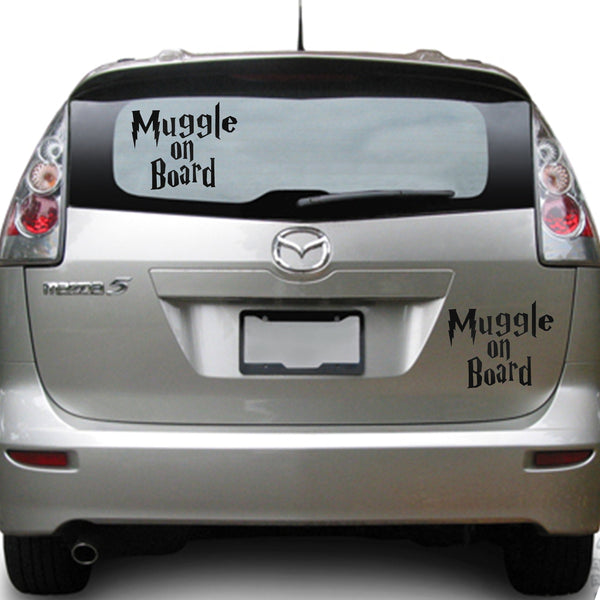 Muggle on Board 25+ colors and multiple sizes, sticker decal .