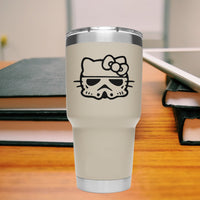 Hello Kitty Stormtrooper 25+ colors and multiple sizes, sticker decal .